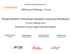 Best challenge entry to Tomasz Buchert, Emmanuel Jeanvoine and Lucas Nussbaum